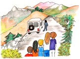 Le mini bus de Theth